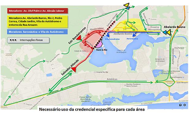 Rotas para moradores da região credenciados (Foto: Divulgação/Secretaria Municipal de Transportes)