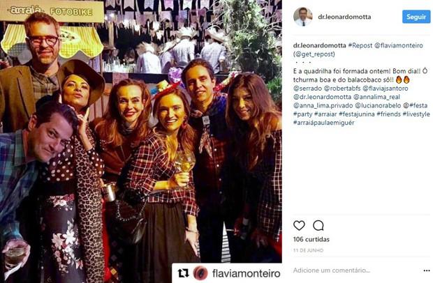 Foto mais recente de Anna Lima e Leonardo Motta foi em junho deste ano (Foto: Reprodução/Instagram)