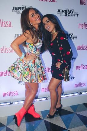 Sabrina Sato e Anitta em evento em São Paulo (Foto: Manuela Scarpa/ Brazil News)