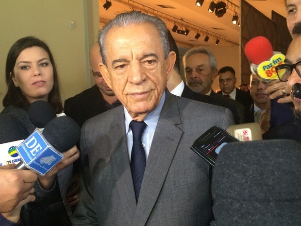 Prefeito eleito Iris Rezende (PMDB) diz que já começou a escolher seu secretariado (Foto: Vitor Santana/G1)