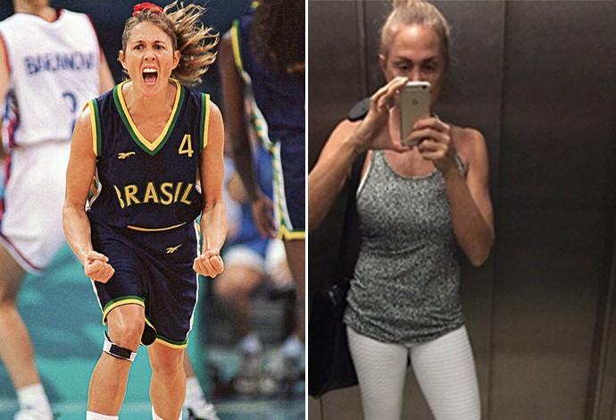 hortencia antes e depois basquete (Foto: Editoria de Arte)