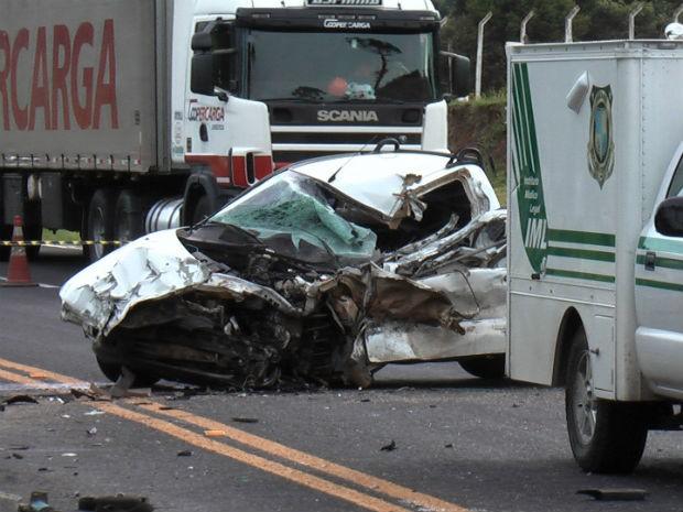 Motorista do carro meu na hora do acidente (Foto: Aécio Rodrigo Novitski)