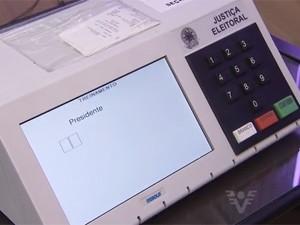 Urna eletrônica (Foto: Reprodução/TV Globo)