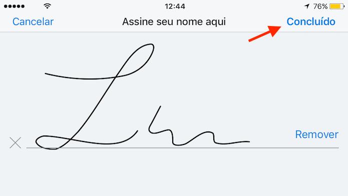 Definição de uma assinatura no Dropbox para iPhone (Foto: Reprodução/Marvin Costa)