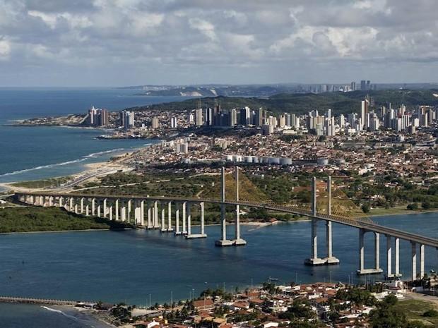 Ponte Newton Navarro, em Natal (Foto: Canindé Soares)