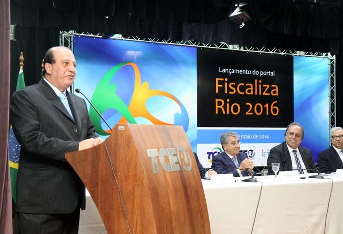 Augusto Nardes presidente TCU lançamento portal Fiscaliza Rio 2016 (Foto: Jorge Campos / CCS/TCE-RJ)