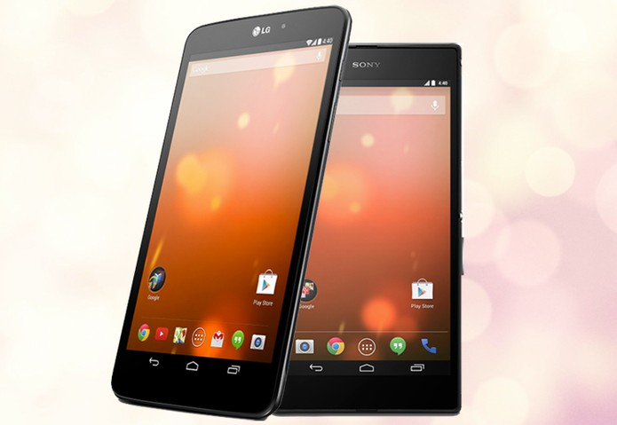 LG G Pad 8.3 e Xperia Z Ultra: primeiro tablet e primeiro smartphone não-Nexus a receber Android puro (Foto: Arte / TechTudo)