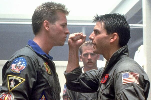 Val Kilmer, Tom Cruise e Anthony Edwards em cena de 'Top Gun - Ases Indomáveis'; saiba como eles estão hoje (Foto: Divulgação)