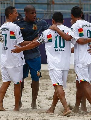 Sampaio derrotou o Sport Recife no confronto nordestino na praia do Gonzaga  (Foto: Marcello Zambrana)