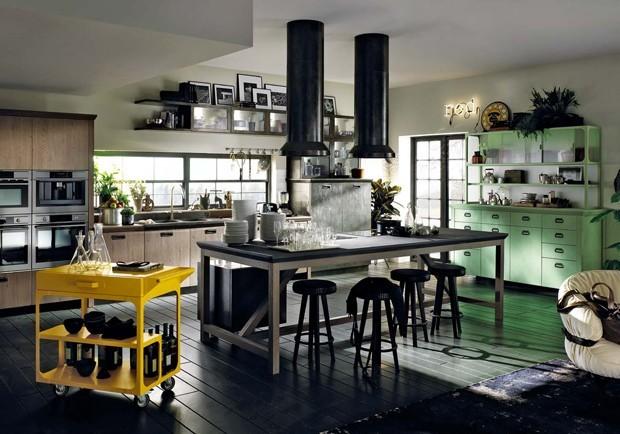 10 cozinhas em diversos tons de verde (Foto: Reprodução)