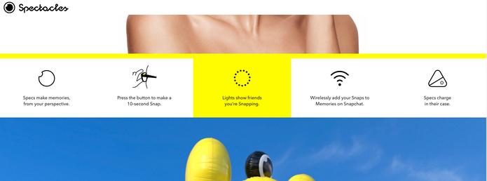 Spectacles ganha 'manual' em inglês no site do Snapchat (Foto: Divulgação/Snapchat)