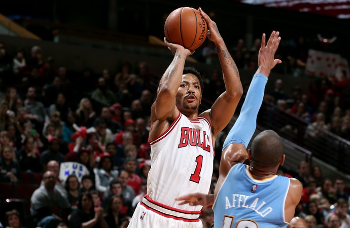 Derrick Rose Bulls x Nuggets NBA (Foto: Getty)