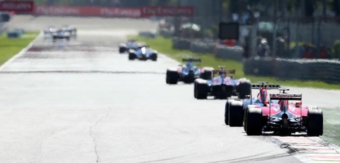 Kimi Raikkonen fez bela corrida de recuperação no GP da Itália (Foto: AP)