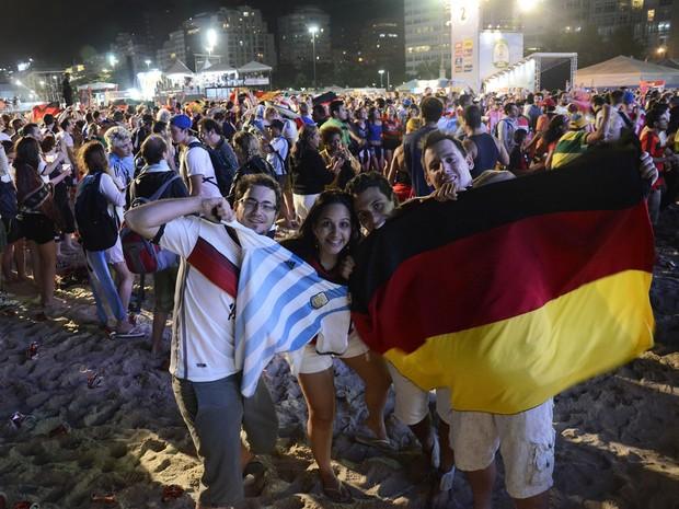 Torcedores na arena Fifa Fan Fest (Foto: Divulgação/Alexandre Macieira/Riotur)