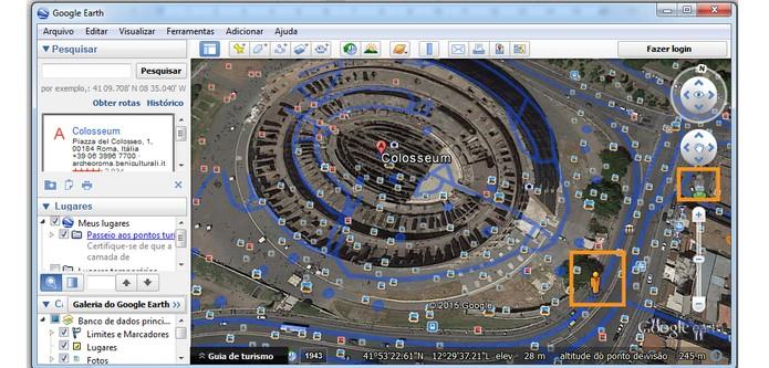 Google Street View no Earth (Foto: Reprodução/Barbara Mannara)