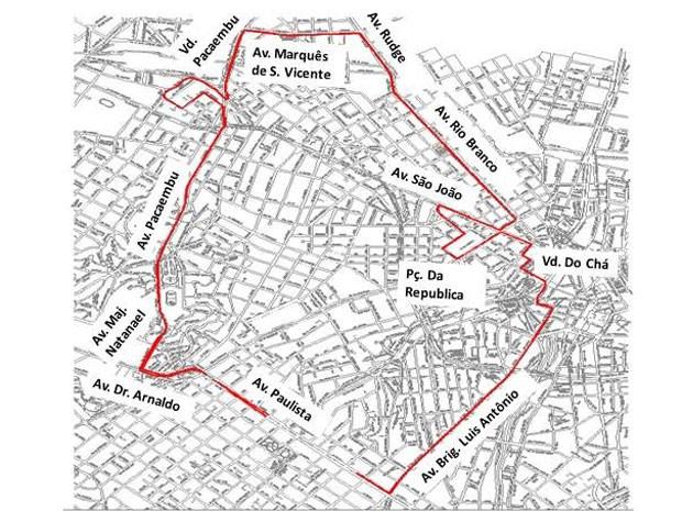 Interdições se estendem por todo o trajeto da corrida às 6h desta quinta-feira (31) (Foto: Divulgação: CET)
