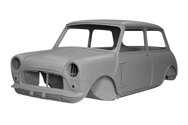 Carroceria do Mini MK1 1959 tem portas com dobradiças aparentes  (Foto: Divulgação)