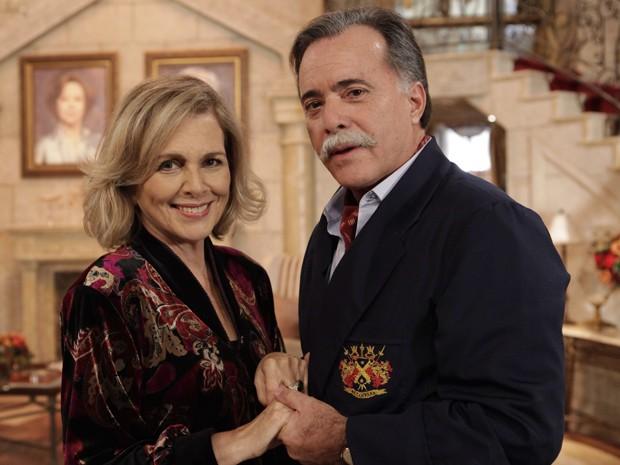 A atriz com parceiro Tony Ramos: 'um ator brilhante' (Foto: Guerra dos Sexos/TV Globo)