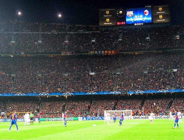 Messi jogo Barcelona x Milan Camp Nou especial (Foto: Cahê Mota / Globoesporte.com)