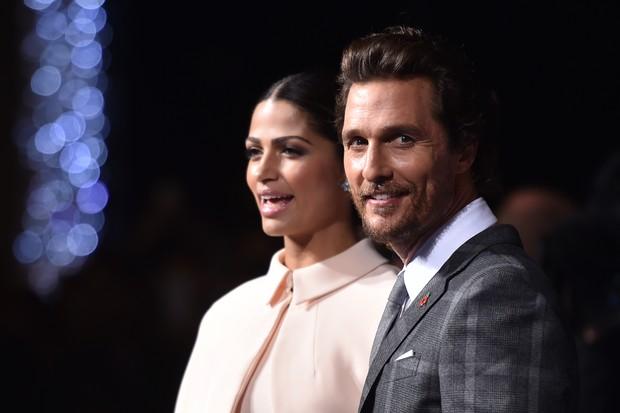 Matthew McConaughey e Camila Alves (Foto: AFP)