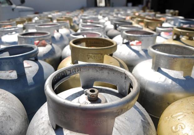 Botijão de gás de cozinha (Foto: Pedro Ventura/Agência Brasília)
