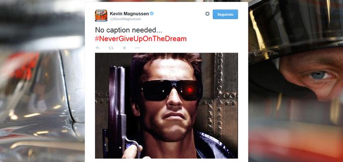 Kevin Magnussen cita Exterminador do Futuro em post (Foto: Reprodução)