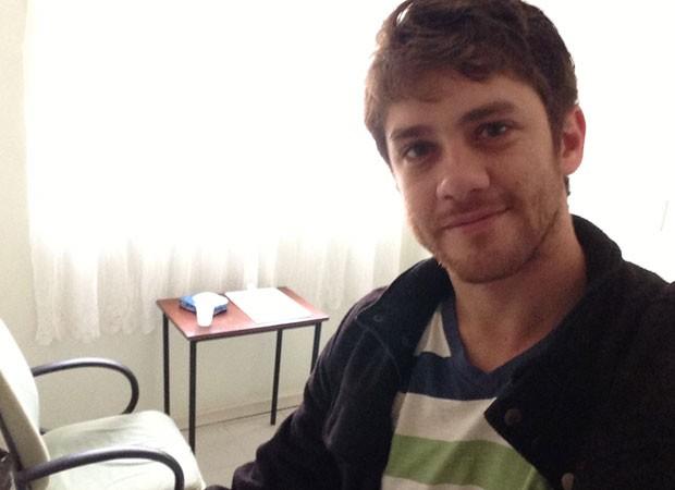 Leonardo Miggiorin estuda psicologia na Unipaulistana (Foto: Divulgação)