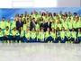 Comitiva de 60 atletas do Time Brasil  visita presidente interino Michel Temer