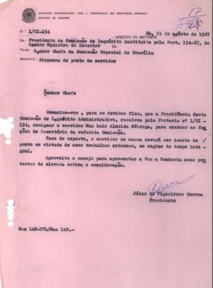 Uma das páginas do relatório recuperadas no Museu do Índio (Foto: Museu do Índio)