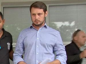 Rodrigo da Cunha Barbosa foi preso em Cuiabá (Foto: Reprodução/TVCA)