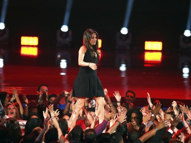 Mila Kunis no MTV Movie Awards em Los Angeles, nos Estados Unidos (Foto: Lucy Nicholson/ Reuters)
