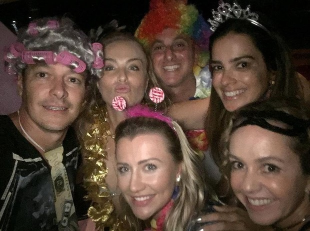 Rodrigo Faro, Angélica, Luciano Huck, Vera Viel e Ana Paula Siebert (Foto: Reprodução/Instagram)