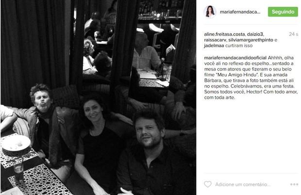 Maria Fernanda Cândido lamenta morte de Hector Babenco (Foto: Reprodução / Instagram)