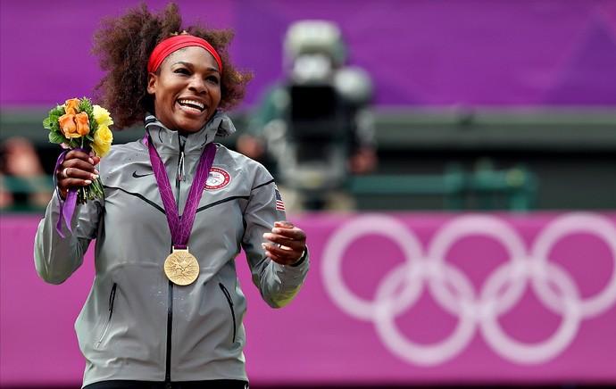 Serena Williams tênis Londres 2012 Olimpíadas final pódio (Foto: Getty Images)