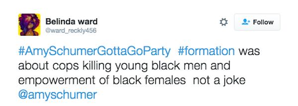 Uma crítica ao vídeo de Amy Schumer (Foto: Twitter)