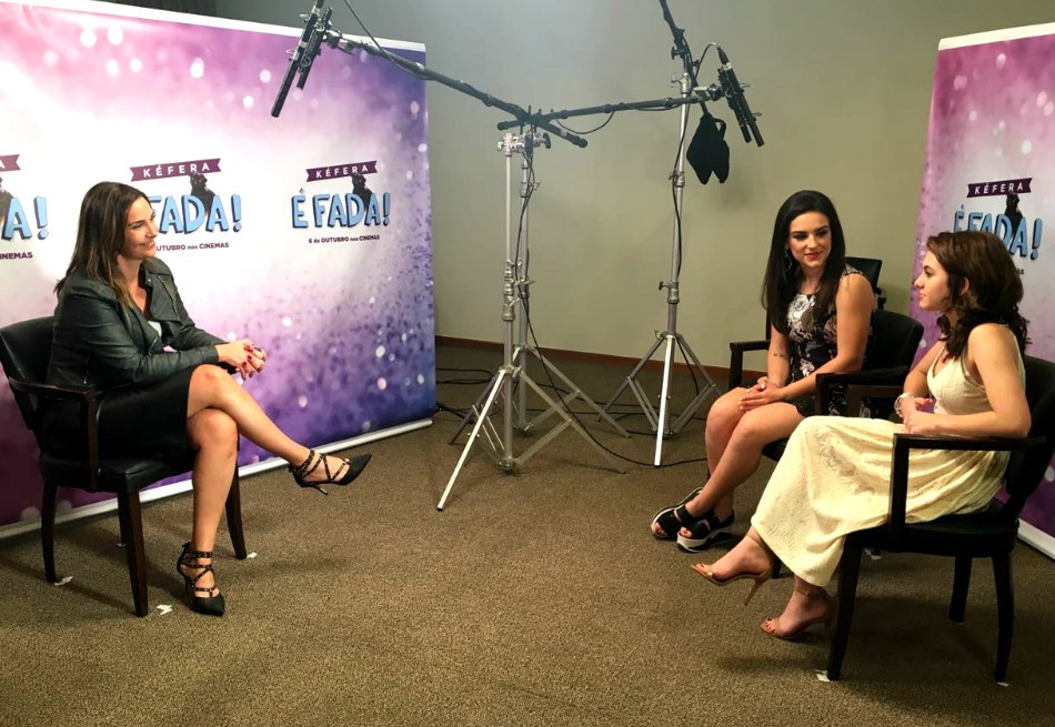 Vanessa Machado entrevista Kéfera Buchmann e Klara Castanho (Foto: Arquivo Pessoal)