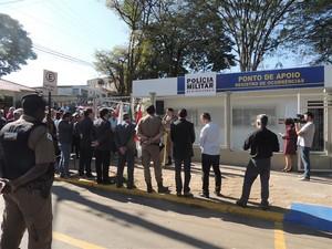 Ponto de apoio da Polícia Militar é inaugurado em Pará de Minas (Foto: PM/Divulgação)