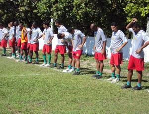 Com adiamento de partida do Santos-AP, Sampaio só treina (Foto: Afonso Diniz/Globoesporte.com)