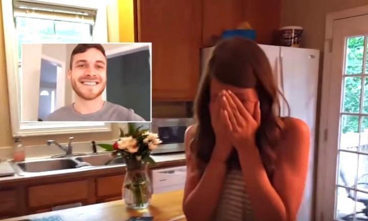 Tim revela para a esposa que ela está grávida (Foto: Reprodução Youtube)