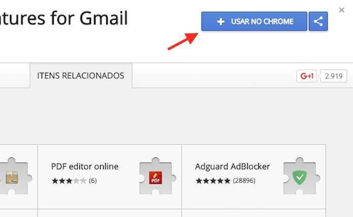Opção para preparar o download da extensão WiseStamp no Google Chrome (Foto: Reprodução/Marvin Costa)