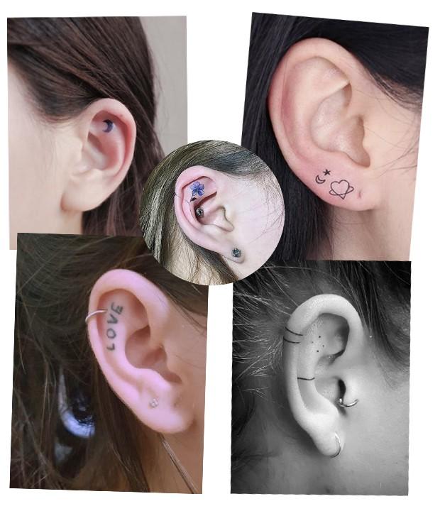 Tatuagem na orelha é hit (Foto: Reprodução / Instagram)