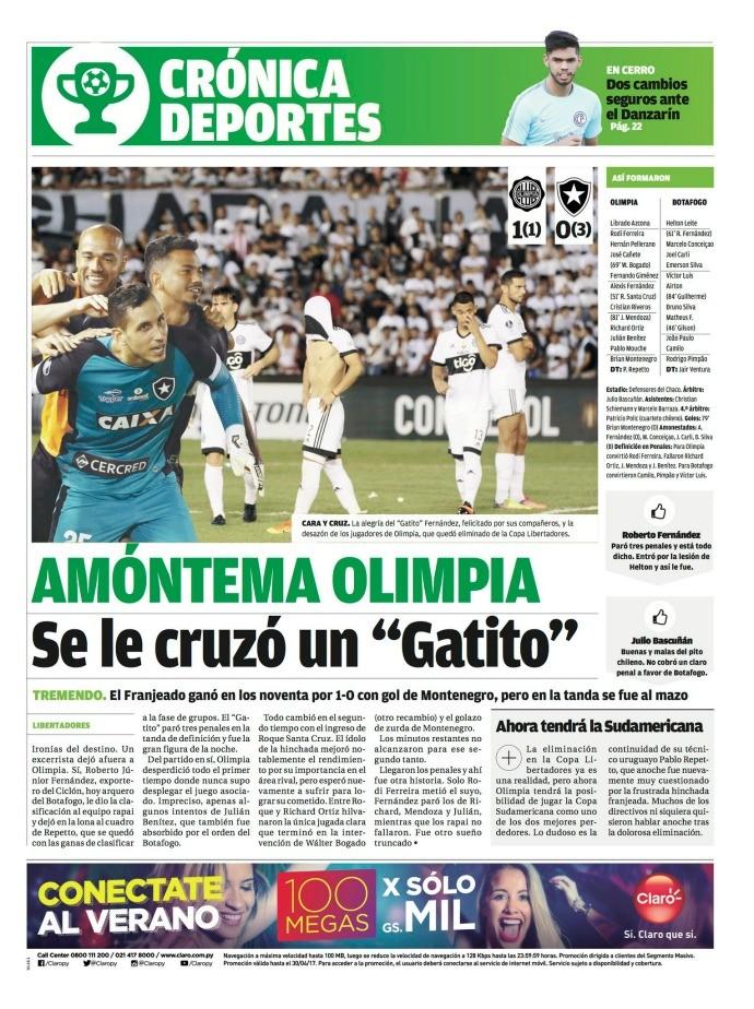 Jornal, Botafogo