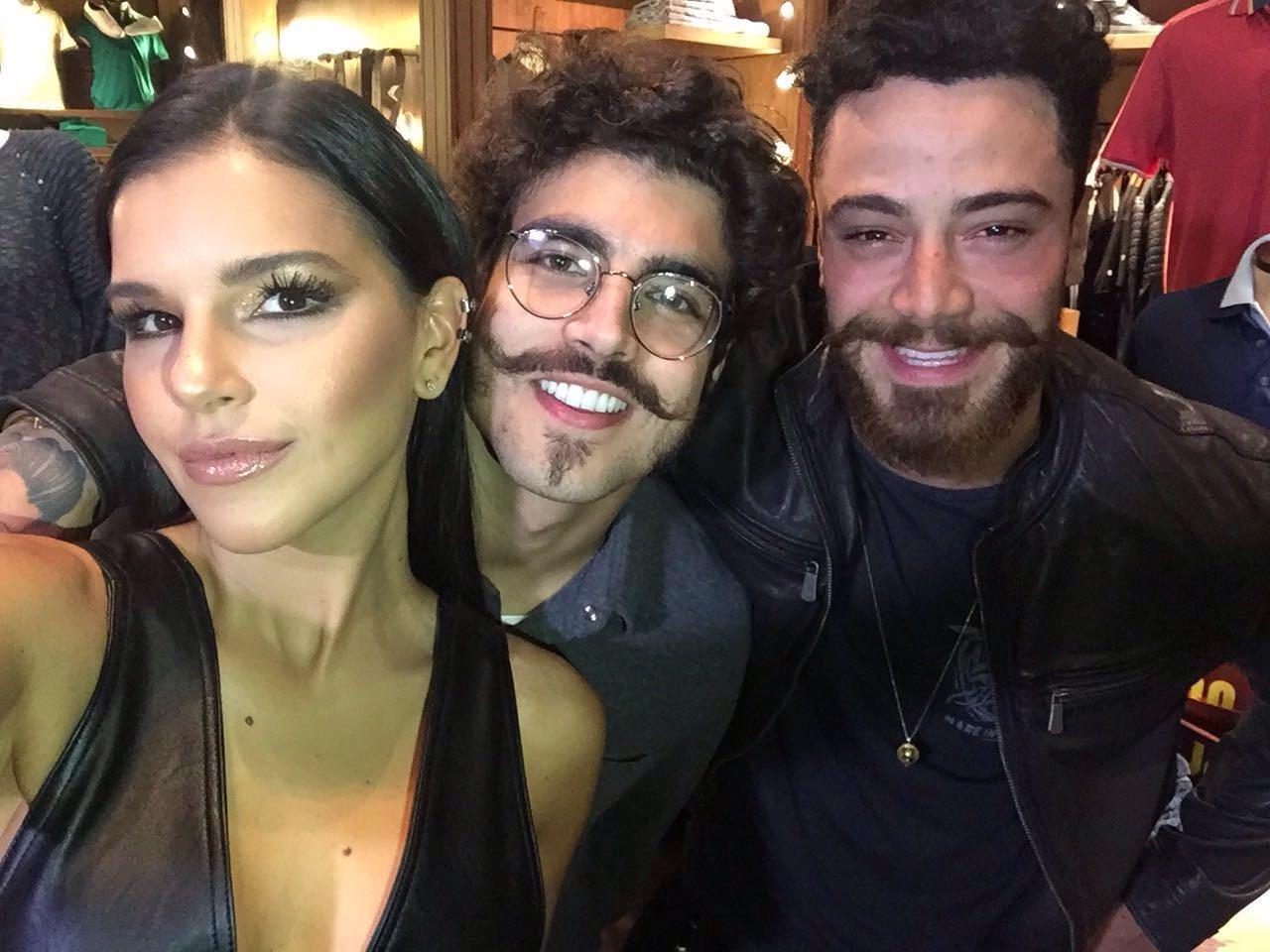 Mari Rios, Caio Castro e Felipe Titto (Foto: (Glamour))