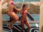 Em foto antiga, Kim Kardashian relembra momento com a irmã