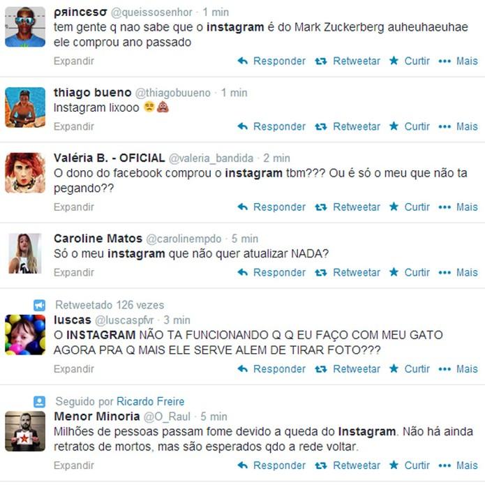 No Twitter, queda do serviço vira piada (Foto: Reprodução)