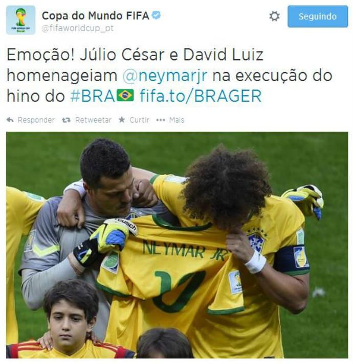 Fifa repercute imagem de homenagem a Neymar (Foto: Reprodução)
