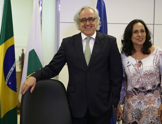 Laerte Rímoli e Christiane Samarco (Foto: Marcello Casal Jr/Agência Brasil)