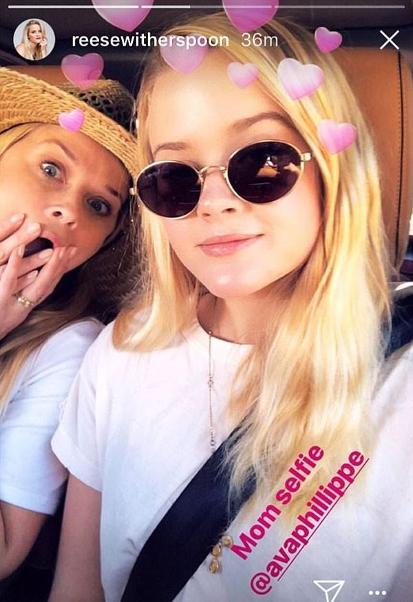 Reese Witherspoon posa ao lado da filha, Eva (Foto: Reprodução/Instagram)