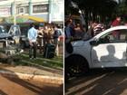 Acidente no Centro de Cascavel deixa três feridos na tarde de domingo