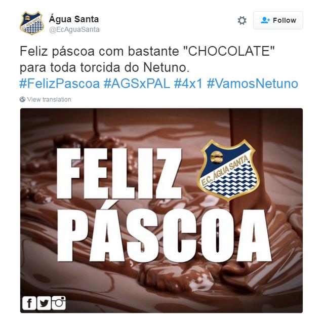 Agua Santa x Palmeiras zoeira  (Foto: Reprodução/Twitter)